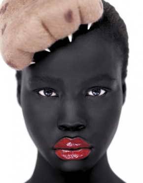 Photo de Clara A. Benjamin, mannequin soudanais