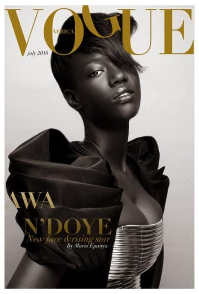 Idée de couverture du magazine Vogue Africa