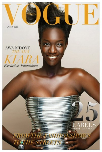 Couverture fictive du magazine Vogue Africa