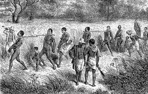 Illustration de la traite des noirs