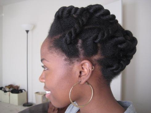 Exemple de coupe protectrice pour cheveux afro naturel