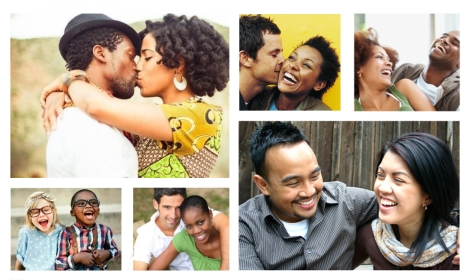 Photos de couples mixtes