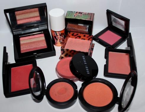 Quelques blushs de couleurs vives