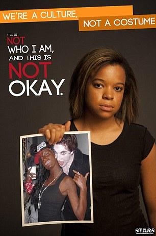 """Affiche de la campagne : """"Nous sommes une culture, pas un déguisement"""""""