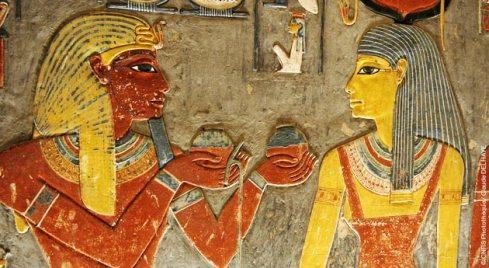 Fresque dans la tombe de Horemheb dans la Vallée des Rois