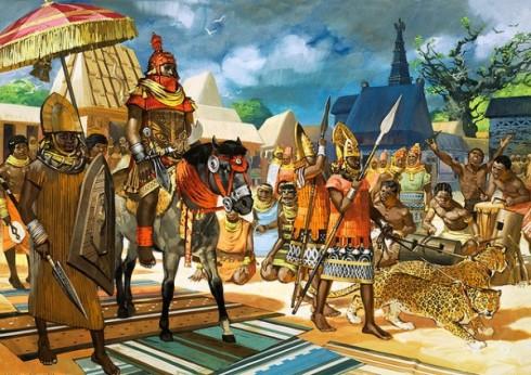 Représentation d'Oba, le roi de l'ancien Royaume du Bénin