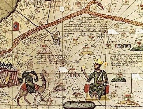 Représentation des relations commerciales entre les musulmans et l'empire malien