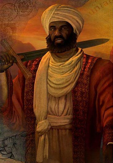 Représentation d'Askia Mohammed I, empereur de l'empire Songhaï dans le jeu Civilization V